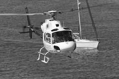 CFR1155-bn  AS-355F-2 EC-JYJ (Carlos F1) Tags: nikon d300 lepb helipuerto heliport transporte transport aviación aviation helicoptero helicopter spotter spotting ecjyj aerospatiale as355f2 ecureuil cathelicopters black white blanco negro bn bw barcelona spain rotorcraft