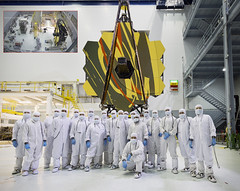 Group Photo with JWST (with inset) (James Webb Space Telescope) Tags: space nasa telescope webb hubble jwst jameswebbspacetelescope hubblessuccessor
