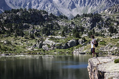 Pujada als llacs (ancoay) Tags: mountain lake reflection water lago reflejo montaa andorra canon600d ancoay