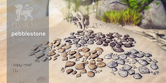 Pebblestones for SaNaRae event (>Ale<) Tags: pebbles pebblestone stone homeandgarden sim land decoration natural nature new aleidarhode avatar sl secondlife lindenlab newreleases