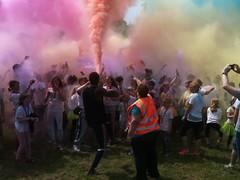 EACH colour run, party & slide (Paul-Ipswich) Tags: each colourrun