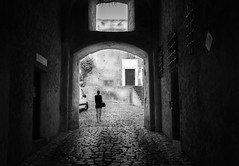 end of the dark tunnel (anthony.vairos) Tags: travel light vacation blackandwhite bw holiday france girl beautiful island photography photo nikon noiretblanc corse calvi corsica tunnel nb d750 fullframe lightroom nikkor35mmf18 pleinformat photoshopcc