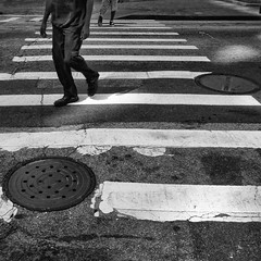 circles in the square (weltreisender2000) Tags: street atlanta two people urban blackandwhite bw men circle downtown geometry stripes pedestrian line crosswalk