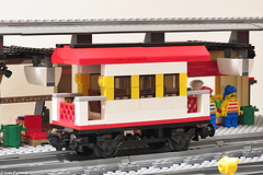 MOC two axle passenger carriage (Ivan Furlanis) Tags: city train lego zug treno moc