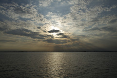 Cloudy sunset (Princess Ruto) Tags: venice sunset sea sky italy cloud sun water cloudy dusk burano veneto