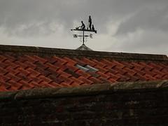 Gardening Weathervane (Munki Munki) Tags: roof metal labrador gardening tiles spade nyorks trug appletonwiske weathervne