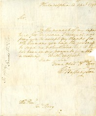 Handwritten letter from George Washington, 1795 April 14 (Cambridge Room at the Cambridge Public Library) Tags: cambridgemass correspondence marbleheadmass washingtongeorge17321799 clergymassachusetts storyisaac17491816