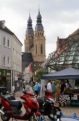 Speyer, Postplatz, Blick zur Kirche St. Joseph (view of St. Joseph's Church) (HEN-Magonza) Tags: speyer rheinlandpfalz rhinelandpalatinate deutschland germany postplatz kirchestjoseph stjosephschurch