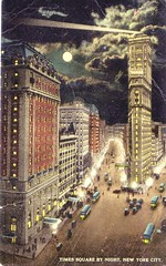 Times Square (1918) - Before the Crime and Drugs (ramalama_22) Tags: new york city building tower night vintage painting subway square newspaper image broadway first stop crime drugs times local crossroad recovery chemical 1918 allied