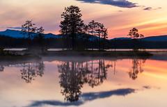 Damvatn (Jostein Aashammer) Tags: sky nature water norway fog landscape nikon nightshot vann d500 solnedgang waterreflection landskap nattbilde watermirroring damvatn josteinshammer nikkor1680mmf2840