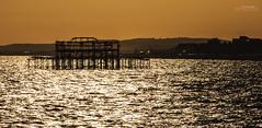 Brightons Pier (_Hadock_) Tags: desktop old sunset sea wallpaper sky naturaleza nature water de atardecer pier muelle mar nikon iron creative commons screen amanecer abandon tamron viejo 18200 fondo anochecer pantalla saver surise abandonado walpaper hierros d80 comons brighron