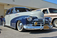 Temple City Classic Car Show (USautos98) Tags: 1948 chevrolet fleetmaster aerosedan bomb lowrider chevy