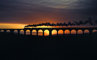 5407 @  Ribblehead viaduct (13/1/1990)