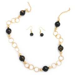 5th Avenue Black Necklace P2130-3