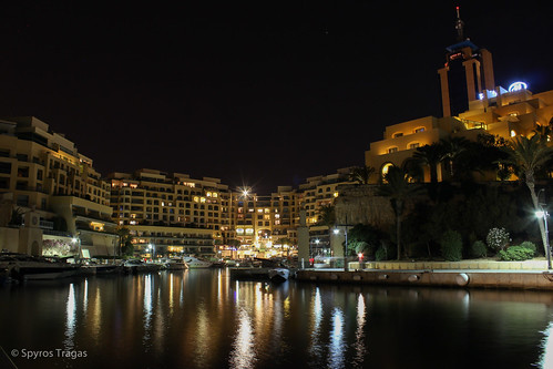 Portomaso Marina by Night, St. Jullians, Malta