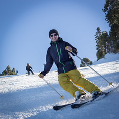Skiing Opening Day at Snow Summit
