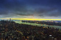 Imperial twilight (Arutemu) Tags: city nyc newyorkcity panorama usa ny newyork night america canon eos evening cityscape nightscape nightshot manhattan ciudad nighttime american citylights empirestatebuilding