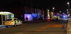 Merseyside Emergency Services attend building collapse in King St Wallasey (sab89) Tags: blue light rescue dog west building st out fire call king north police ambulance nhs collapse service emergency hyundai section wallasey wirral i20 merseyside i30 nht dxs dk14 dk14dxs
