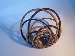 The Lost Art of Cyclid Islands Weavers Revisited (fdecomite) Tags: print 3d model sandstone san math blender antonio jmm povray cyclide villarceau shapeways