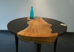 Tejaswini_2975 (Manohar_Auroville) Tags: wood exhibition tables luigi auroville fedele manohar tejaswini woodscapes