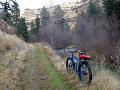Asotin creek trail (Doug Goodenough) Tags: bicycle bike surly pugsley krampug drg53114p asotin washington creek trail 14 2012 november pedals spokes winter drg53114 drg531ppugsley drg531