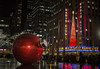Ornamentus Gigantis (gimmeocean) Tags: nyc newyorkcity ny newyork nightshot availablelight manhattan midtown ornament ornaments christmasdecoration radiocitymusichall 6thave giantornament giantornaments 1251avenueoftheamericas shouldhavebeenexplored
