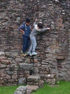 illegal wall climbing