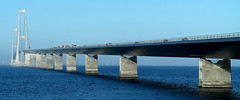 Great Belt Bridge, Denmark (Bjerner, DK) Tags: bridge blue blueskies noclouds greatbeltbridge