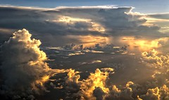 Cloudscape (sjrankin) Tags: sunset sky clouds pacific edited thunderstorm amc airforce usaf cloudscape unitedstatesairforce travisairforcebase afrc airmobilitycommand airforcereservecommand 349amw c5bgalaxy 349th 349thairmobilitywing 312thairliftsquadron pacchannel 17december2014