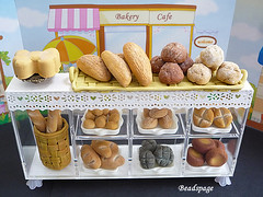 Miniature Bakery Set (https://www.etsy.com/shop/KawaiiCraftCottage) Tags: party food cute cakes shop set bread miniatures miniature store cafe doll dolls counter display cabinet handmade fake patisserie baguette bakery buns kawaii pastry faux showcase parlor assorted whimsical dollhouse hotcrossbuns wholemealbread