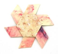 Fujimoto hexagone Rosette  23 front (Pliages et vagabondages) Tags: origami rosette décoration déco fujimoto