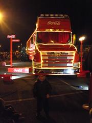 'SANTA1' Coca-Cola Christmas Truck 22-12-2014 Clacton Common.10 (routemaster2217) Tags: christmas xmas truck wagon coke lorry cocacola artic christmastruck clactononsea holidaysarecoming scaniatcab