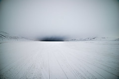 Is that bad weather? (Tommy Høyland) Tags: voyage travel winter mountain snow cold art tourism ice nature beautiful weather sport norway rock landscape norge path horizon extreme tracks svalbard arctic adventure journey climber tracking spitsbergen snowmobile