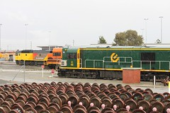 DC2205+L3102+D48 stabled at Forrestfield 20-6-12 (Aussie foamer) Tags: train clyde railway locomotive arg westernaustralia emd englishelectric westrail cootes freightrail dclass dcclass lclass forrestfield wagr 42201 d48 nswgr qrnational 422class dc2205 aurizon l3102