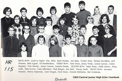 1969 Central Junior High 7th grade homeroom 115 Mrs Buhr. From 1969 Echo yearbook (ameshighschool) Tags: school stone ed moody martin central iowa scan ia ames eddie 1968 dexter tracey perry sims middleschool classphoto doak lott hendrickson stoll 7thgrade albertson brianperry amesiowa macbride sassaman paulstone reedmartin centraljuniorhighschool timmoody ahs1974 edhendricksonjr traceystoll edwardleehendrickson traceyannstoll dubberke dalekever dennisdubberke dextermacbride garyalbertson jeffshearer saradoak vickiesims ameshighclassof1974 bobwelshons nancysassamanlott vickiesimstabbot echoyearbook