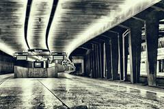 Poland Warsaw, Central Station 01.17 AM, Neo will not come here. (Smo_Q) Tags: winter bw night death sadness darkness poland polska warsaw warszawa sigma50f14 pentaxk5