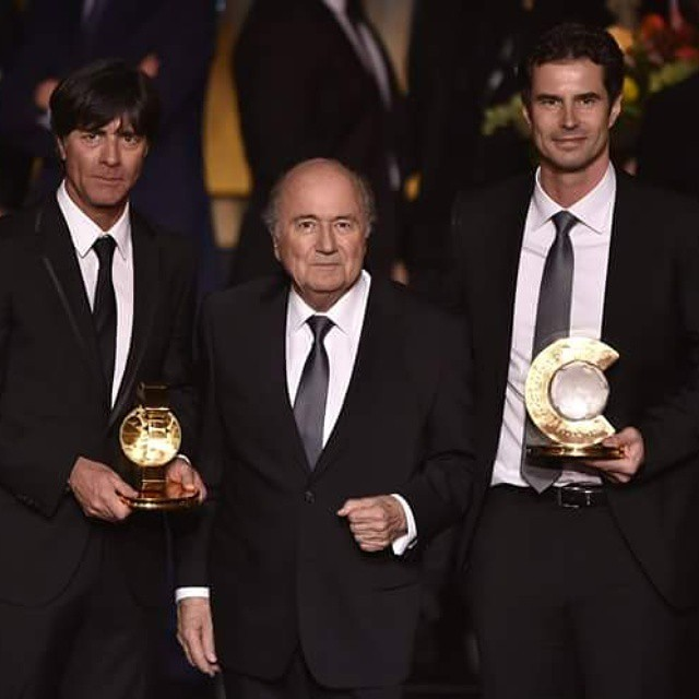 FIFA PRESIDENT SEPP BLATTER  PRESENT DURING PRESTIGIOUS  #BALLON #DOR AWARD GIVING CEREMONY