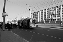 untitled (Anton Zabermach) Tags: city urban blackandwhite bw film analog 35mm cityscape russia wideangle d76 fujifilm nikkor acros nizhnynovgorod nikonfe2 selfdeveloped 24mmf28ais