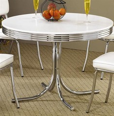 The world 39 s best photos of dinette and retro flickr hive mind - Vintage chrome kitchen table ...