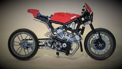 V4 Roadster (Lightning1200) Tags: cafe lego motorbike technic motorcycle racer moc v4