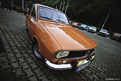 Dacia 1300 (Gabriel-Auras Photography Products) Tags: auto show old school mountains canon lens outside eos power wide meeting retro romania orangina brasov dacia