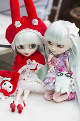 Miho and Akemi (Brie Gilmore  ) Tags: dolls sanrio groove pullip mymelody obitsu junplanning pullipmymelody hennako pullipmymelodyhennako