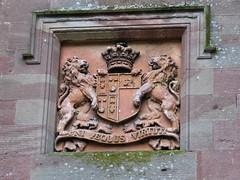 Royal crest at Scone (jimsawthat) Tags: uk rural scotland unitedkingdom palace crest historic perth sconepalace