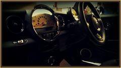 148 of 366 (I line photography) Tags: black reflection minicooper dashboard speedometer steeringwheel 365project
