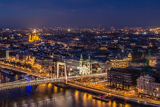 Budapest at blue hour