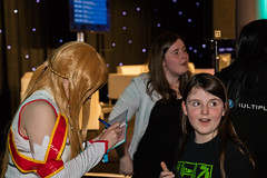 Insomnia 30-04-2016--121 (Philip Gillespie) Tags: family pink blue costumes girls red portrait people orange blur green boys up kids canon children photography lights scotland costume video edinburgh play dress purple audience cosplay candid stage crowd talk games exhibition conference insomnia gamers sequent insomniascotland