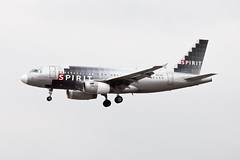 Spirit Airlines Airbus A319 N517NK (jbp274) Tags: airport cloudy spirit airplanes airbus lax nk a319 spiritairlines klax