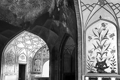 In between the shadows and light... (Fortunes2011. Closure of 6 years) Tags: windows blackandwhite bw heritage geometric floral monochrome lines wall architecture painting design paint bricks arches mosque lahore masjid placeofworship tilework mehrab wazirkhanmosque inticate androonlahore fortunes2011nikon