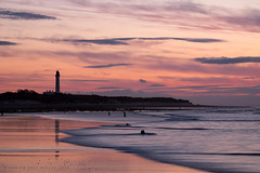 Covesea Sunset (Andrew Paul Watson) Tags: sunset sky lighthouse seascape reflection beach scotland rocks long exposure cove tide scottish fujifilm moray firth lossiemouth xt1 covesea