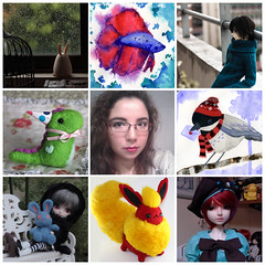#artvsartist (InfinitySadness) Tags: illustration watercolor doll felting needle bjd pullip needlefelting selfie isul artvsartist